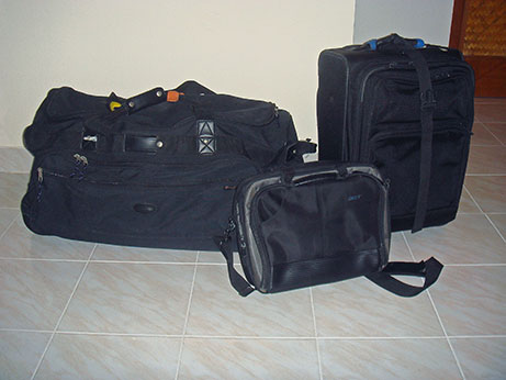 everything in three bags